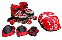 Роликовые коньки с защитой In Lin Skate 129ATD
