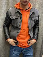 Мужская джинсовка серая, фото 1