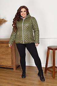 Стеганная весенняя куртка Большого размера