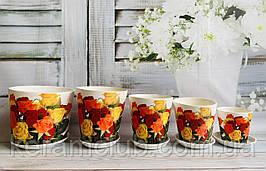 Набір квіткових горщиків Керамклуб №8 Троянди