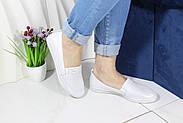 Женские кожаные мокасины Aras Shoes 650-beyaz, фото 2