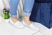 Женские кожаные мокасины Aras Shoes 650-beyaz, фото 3