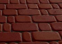 Тротуарная плитка Старый город 40 коричневая, Серая основа