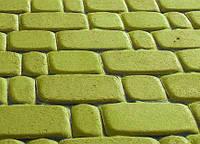 Тротуарная плитка Старый город 40 оливка, Серая основа