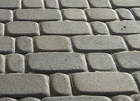 Тротуарная плитка Старый город 40 серая, Серая основа