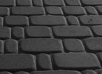 Тротуарная плитка Старый город 40 черная, Серая основа