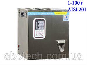Дозатор ваговий спіральний до 100 грам для сипучих продуктів вибролотковый Лінійний ковшова дозатор AISI-304 NPL-100