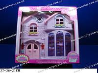 Домик для кукол с мебелью и светом
