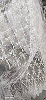 Тюль кордовая на метраж белая , высота 1,6м ( 3061 ), фото 2