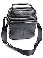 Чоловіча сумка через плече із натуральної шкіри RVL 3657 Black, фото 1