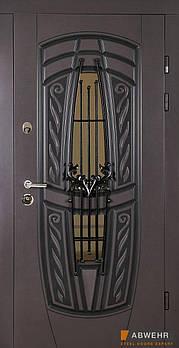 Входные двери ТМ Abwehr со стеклом модель 209-glass комплектация Classic