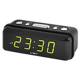 Часы сетевые VST-738-2 зеленые, 220V, фото 2