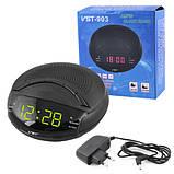 Часы сетевые VST-903-2 зеленые, радио FM, 220V, фото 2