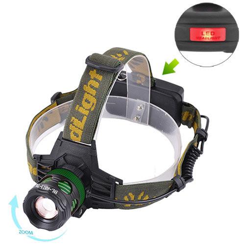Ліхтар налобний Police 6813-T6, ЗУ 220V/12V, 2x18650, zoom, Box