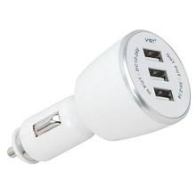 Автомобільна USB зарядка від прикурювача 12В VST-707, 3 USB