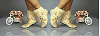 Женские стильные велюровые женские ботинки с бантиком (цвета в ассортименте) . Арт-0111, фото 1