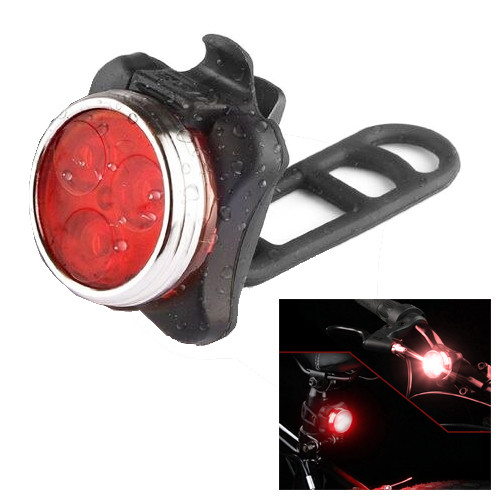 Велосипедний ліхтар HJ-030-3LED, вбудований акумулятор, ЗУ mircoUSB, Waterproof