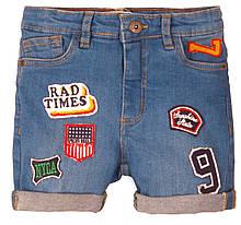 Яркие детские джинсовые шорты для мальчиков 3-8 лет, 98-128 см Minoti, 98-104 см