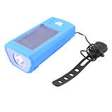 Велозвонок + фара FY-316-XPE, сонячна батарея, виносна кнопка, Waterproof, акум., ЗУ mircoUSB, фото 3