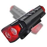 Велозвонок + фара FY-329Pro-2L2 ULTRA LIGHT, MEGA SIGNAL, солн.батарея, выносная кнопка, Waterproof, аккум.,, фото 2