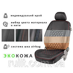 Автомобильные чехлы из экокожи на сиденья MITSUBISHI L200 06- пикап Митсубиси Л200