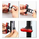 Велосипедний ліхтар STOP + Security маячок 8821-5COB, акум., ЗУ micro USB, фото 4