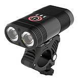 Велосипедний ліхтар Y12Pro-2XPE DUAL MEGALIGHT, ALUMINUM, індикація заряду, Waterproof, акум., ЗУ micro USB, фото 4