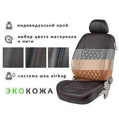 Автомобильные чехлы из экокожи на сиденья RENAULT Kangoo II 13- mv Рено Кенго