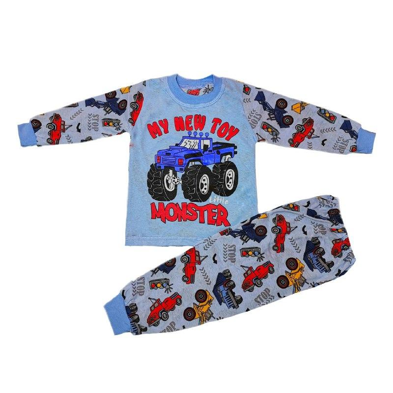 Дитяча піжама для хлопчика з малюнком Monster кулір