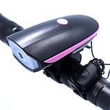 Велозвонок + фара 758/FY-056, выносная кнопка, Waterproof, 3xAAA, фото 6