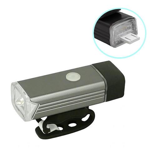 Велосипедний ліхтар BST-001/2278-XPE, ALUMINUM, підсвітка кнопки, Waterproof, акум., ЗУ USB - флешка