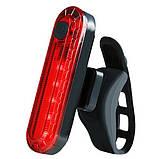 Велосипедний ліхтар STOP + Security маячок BSK-2275/HJ-056-5SMD, Waterproof, акум., ЗУ micro USB, фото 5