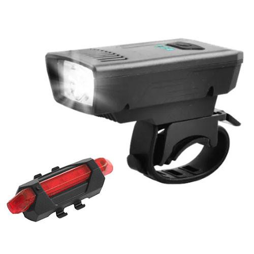 Велокомплект 1803-1-XPE + STOP-5LED, акум., ЗУ micro USB
