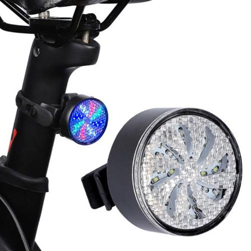 Велосипедний ліхтар AQY-0113, кольоровий, ЗУ microUSB, вбудований акумулятор
