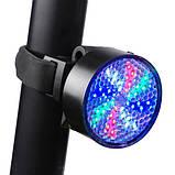 Велосипедний ліхтар AQY-0113, кольоровий, ЗУ microUSB, вбудований акумулятор, фото 7