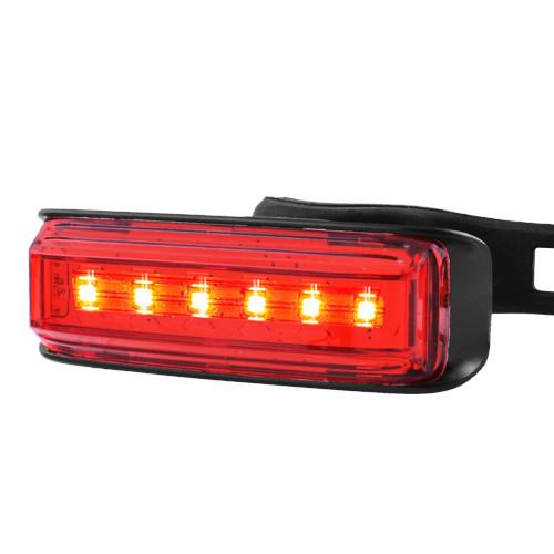 Велосипедний ліхтар AQY-0115-6SMD (червоний), ЗУ micro USB, вбудований акумулятор