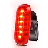 Велосипедний ліхтар AQY-0116-6SMD, червоний, ЗУ microUSB, вбудований акумулятор, фото 2