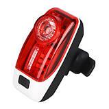 Велосипедний ліхтар XH-207-0.5 W+3SMD, ЗУ micro USB, вбудований акумулятор, фото 2
