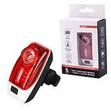 Велосипедний ліхтар XH-207-0.5 W+3SMD, ЗУ micro USB, вбудований акумулятор, фото 3