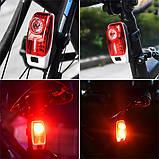 Велосипедний ліхтар XH-207-0.5 W+3SMD, ЗУ micro USB, вбудований акумулятор, фото 4