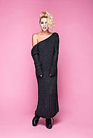 Платье вязаное ручной работы с открытой спиной