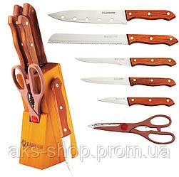 Набор ножей из нержавеющей стали на подставке MAESTRO MR-1401 (7 пр.)   кухонный нож Маэстро   ножи Маестро
