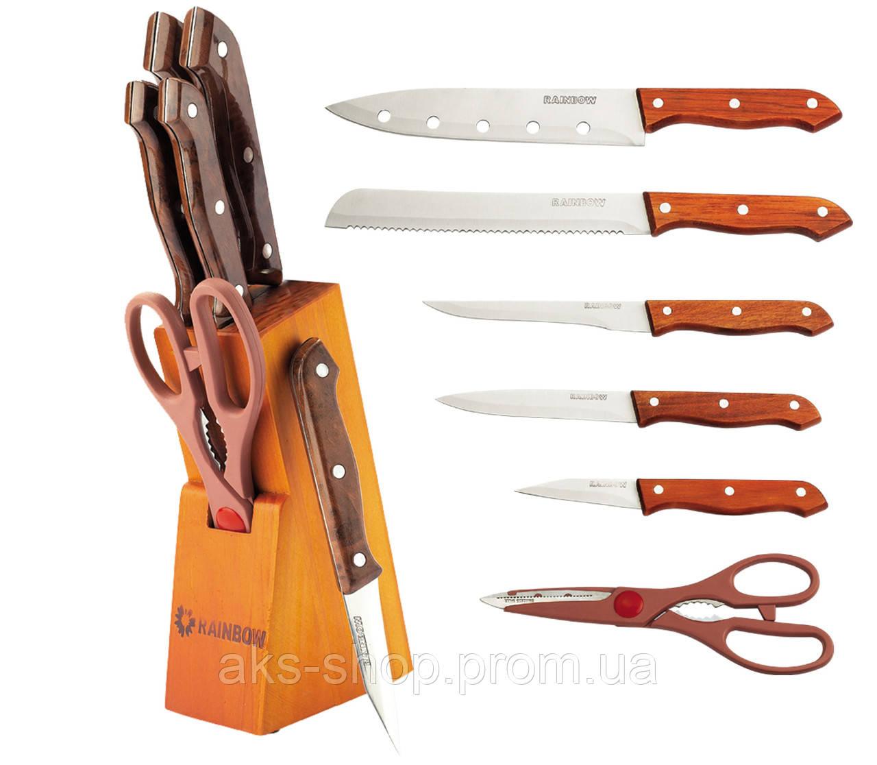 Набор ножей на деревянной подставке Maestro MR-1404 7 предметов