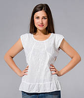 Блузка жіноча біла з вишивкою бавовна, Індія, 44-48 р-ри, фото 1