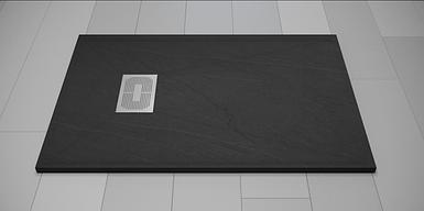 Поддон для душа Weston 120х80х32 графит литой мрамор