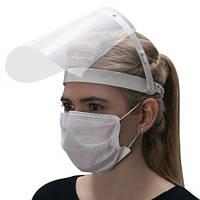 Экран-щиток защитный для лица прозрачный медицинский антибактериальный лицевой экран маска пластиковая белая