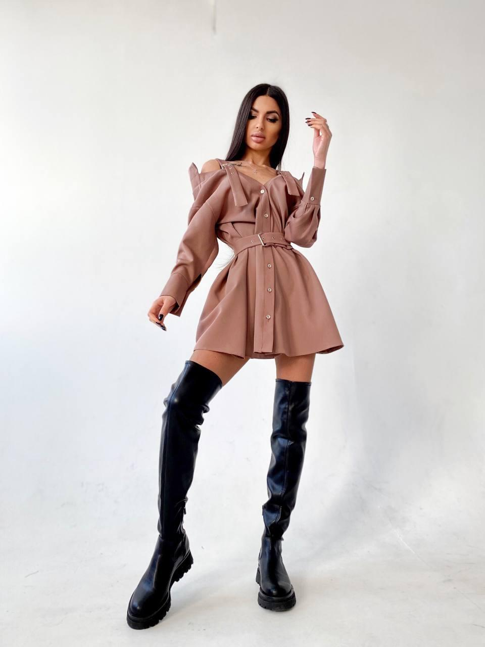 Сукня-сорочка на плечиках Amelia brown