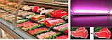 Линейный LED светильник для мясных витрин Р-10W Розовый 60см, фото 5