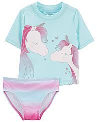 """Дитячий роздільний купальник для дівчинки """"Єдиноріг"""" UPF 50+ Carter ' s"""