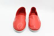 Женские кожаные мокасины Marcha 101-red, фото 5